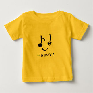 a happy music note t shirt
