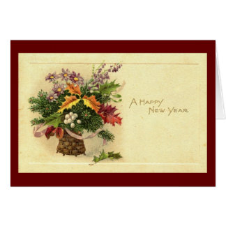 A Happy New Year 1924 Vintage Card