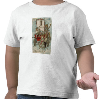 A Happy New YearKids Around a Red Wagon Shirt