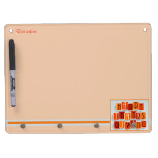A Happy Thanksgiving Dry Erase Board With Key Ring Holder
