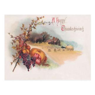 A Happy Thanksgiving Postcard