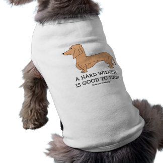 A Hard Wiener is Good to Find Doggie Tank Top Sleeveless Dog Shirt