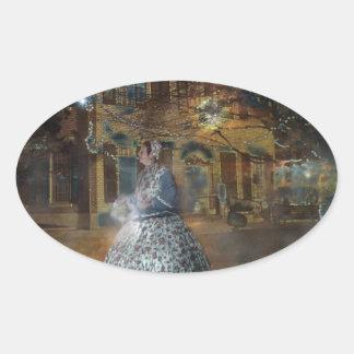 A Haunted Tale in Dahlonega Oval Sticker