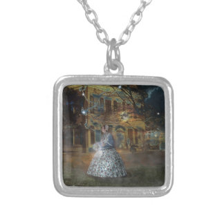 A Haunted Tale in Dahlonega Silver Plated Necklace
