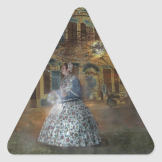 A Haunted Tale in Dahlonega Triangle Sticker