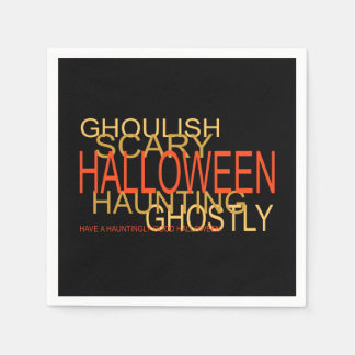 A Haunting Halloween Halloween Party Paper Napkins
