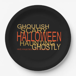 A Haunting Halloween Halloween Party Paper Plates 9 Inch Paper Plate