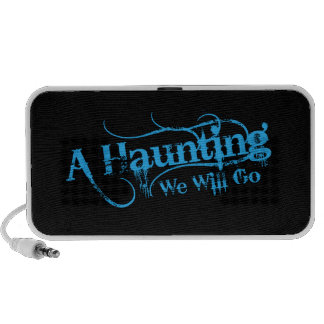 A Haunting We Will Go LLC Blue Logo iPod Speakers