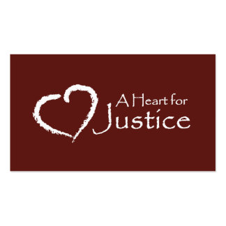 A Heart for Justice cards Business Card Templates