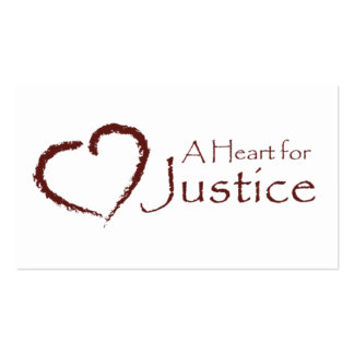 A Heart for Justice cards (white) Business Cards