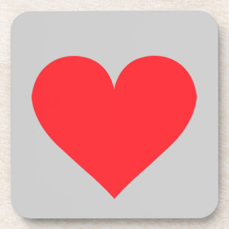 A Heart of Love and Affection Beverage Coaster