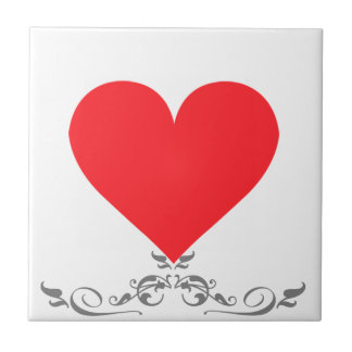 A Heart of Love and Affection Small Square Tile