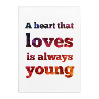 A Heart That Loves Is Always Young Bokeh Wall Art