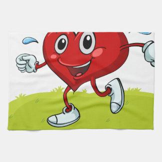 a heart towel