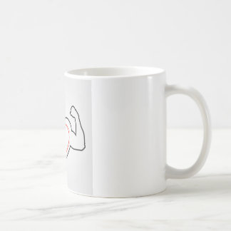 A heart with flexing muscles- Healthy heart Coffee Mug
