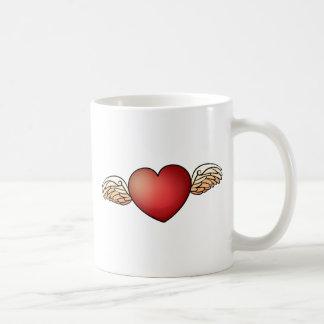 A heart with wings coffee mug