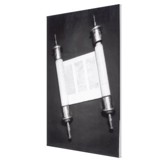 A Hebrew Scroll Stretched Canvas Print