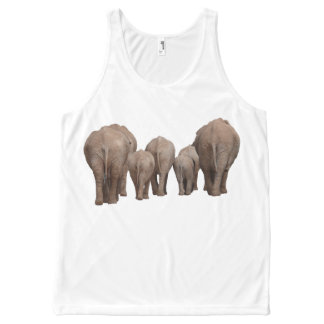 A Herd of Elephants All-Over Print Tank Top