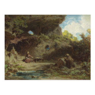 A Hermit in the Mountains Postcard