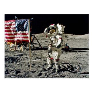 A Hero's Salute From Apollo 17 Postcard