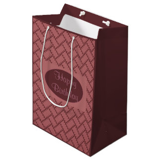 A Herringbone Pattern 10 Medium Gift Bag