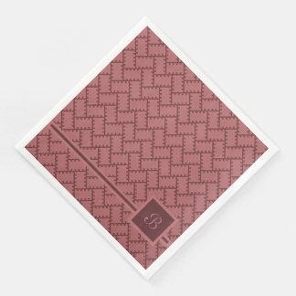 A Herringbone Pattern 10 Paper Napkins