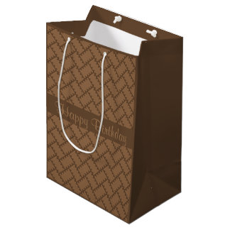 A Herringbone Pattern 11 Medium Gift Bag