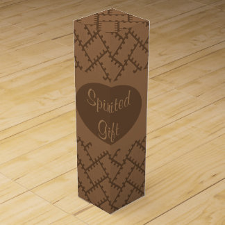 A Herringbone Pattern 11 Wine Gift Box