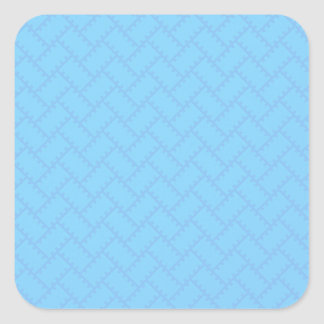 A Herringbone Pattern 14 Square Sticker