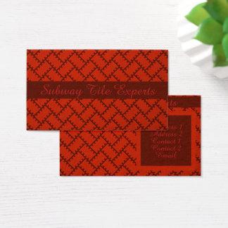 A Herringbone Pattern 15 Business Card