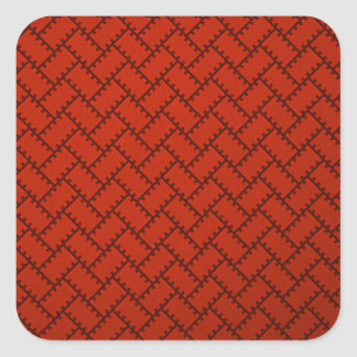 A Herringbone Pattern 15 Square Sticker