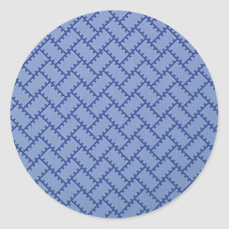 A Herringbone Pattern 4 Classic Round Sticker