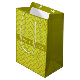A Herringbone Pattern 7 Medium Gift Bag