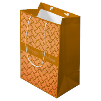 A Herringbone Pattern 8 Medium Gift Bag