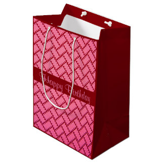 A Herringbone Pattern 9 Medium Gift Bag