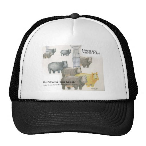 A Hippo of a Differnt Color! Trucker Hats