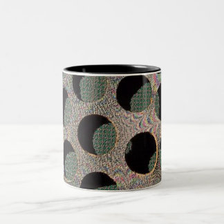 A hole different world! Two-Tone mug