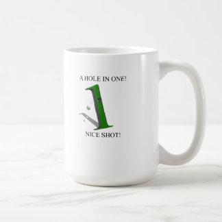 A Hole In One Golf Ball Basic White Mug