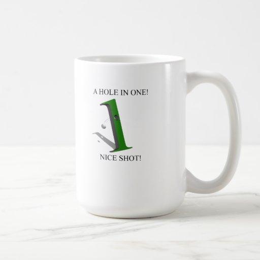 A Hole In One Golf Ball Coffee Mugs