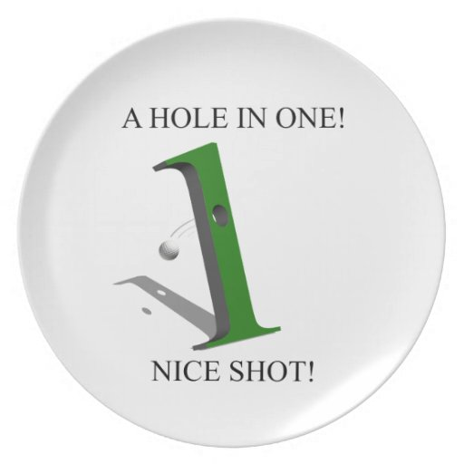 A Hole In One Golf Ball Party Plate
