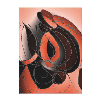 A Hole In The Wall - A Slice of Orange Canvas Print
