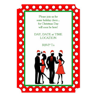 A Holiday Gathering Christmas Party Invitations