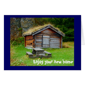 A home in the mountains card