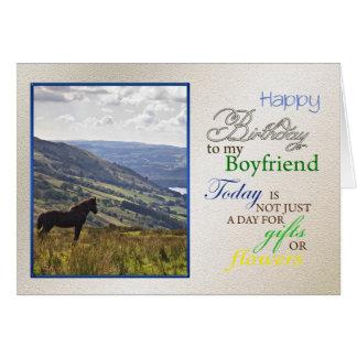 A horse birthday card for boyfriend.