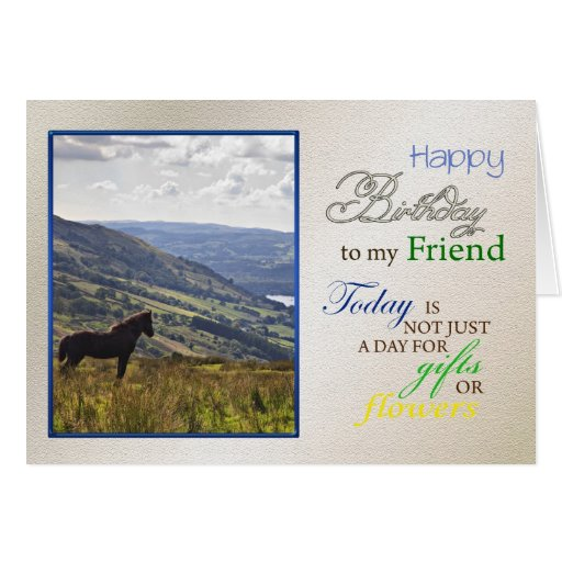 A horse birthday card for Friend.