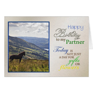 A horse birthday card for partner.
