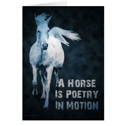 A Horse Is Poetry In Motion Greeting Card