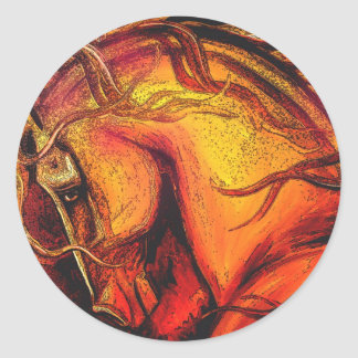 A Horse of a Different Color Round Sticker
