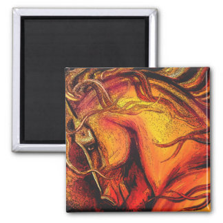 A Horse of a Different Color Square Magnet