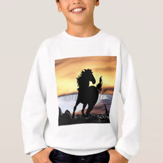 A horse silhouette and waterfall sweatshirt